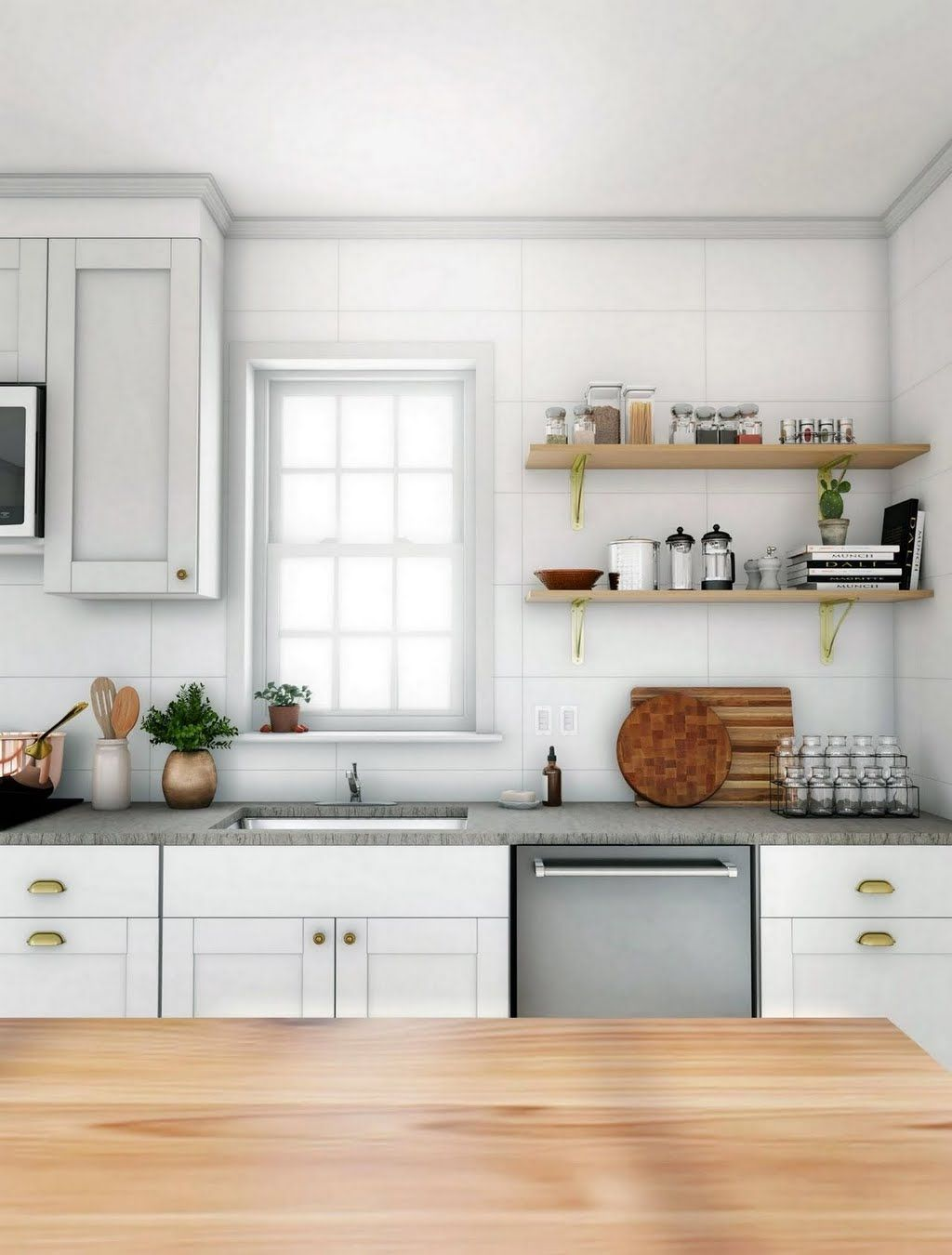 Simple Gray Country Kitchen Kitchen The Home Depot Apartments