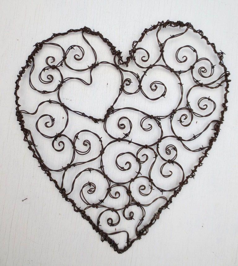 Herz aus Draht ! | Herzen | Pinterest | Draht und Herzchen
