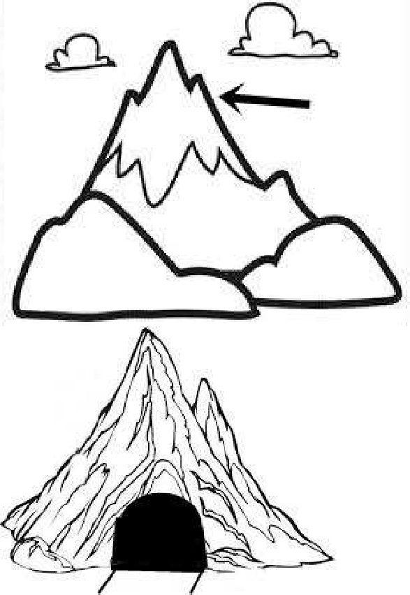 La montagna disegni da colorare geografia pinterest for Piccoli disegni di baite di montagna