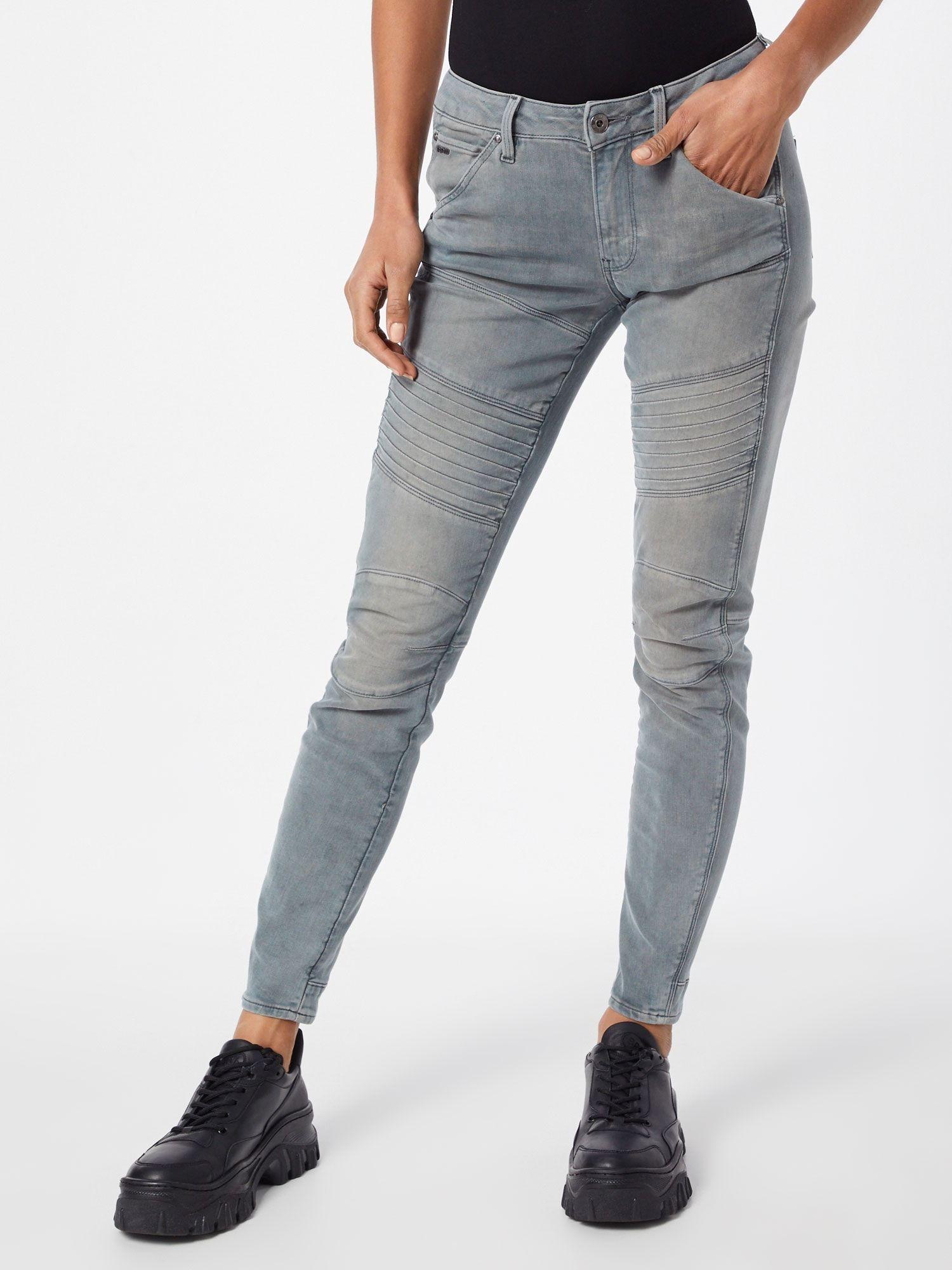 G Star Raw Jeans 5620 Custom Mid Skinny Damen Grau Grosse 31 In 2020 Custom Jeans Raw Jeans Reebok Club