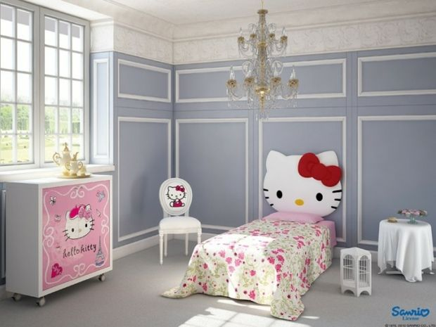Idee Deco Chambre Fille De La Beaute Et De L Elegance Kids Bedroom Designs Hello Kitty Bedroom Decor Hello Kitty Bedroom