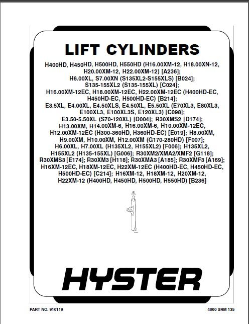 New Hyster Forklift Repair Manuals PDF 2017 for FULL