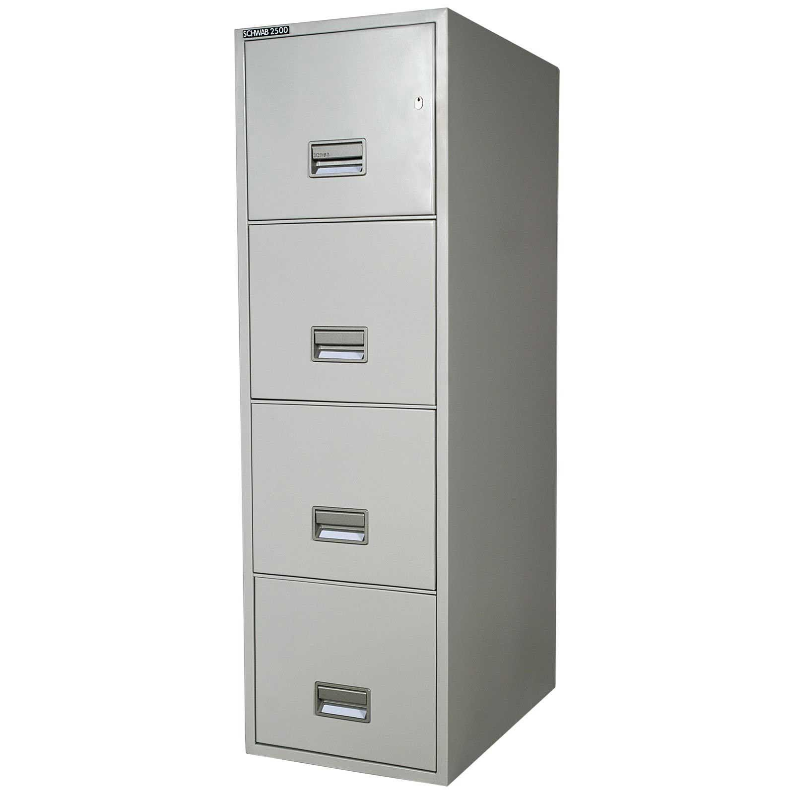White Metal 4 Drawer File Cabinet
