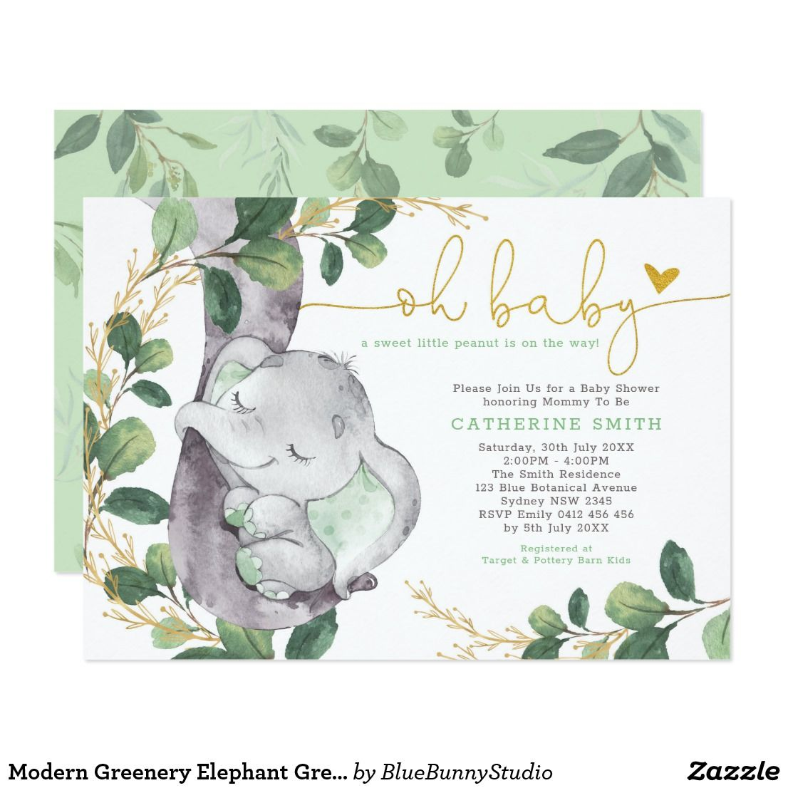 Gorgeous Wishes For Baby  Shower Game ELEPHANT /& BUNNY 20 Sheets GREEN NEUTRAL