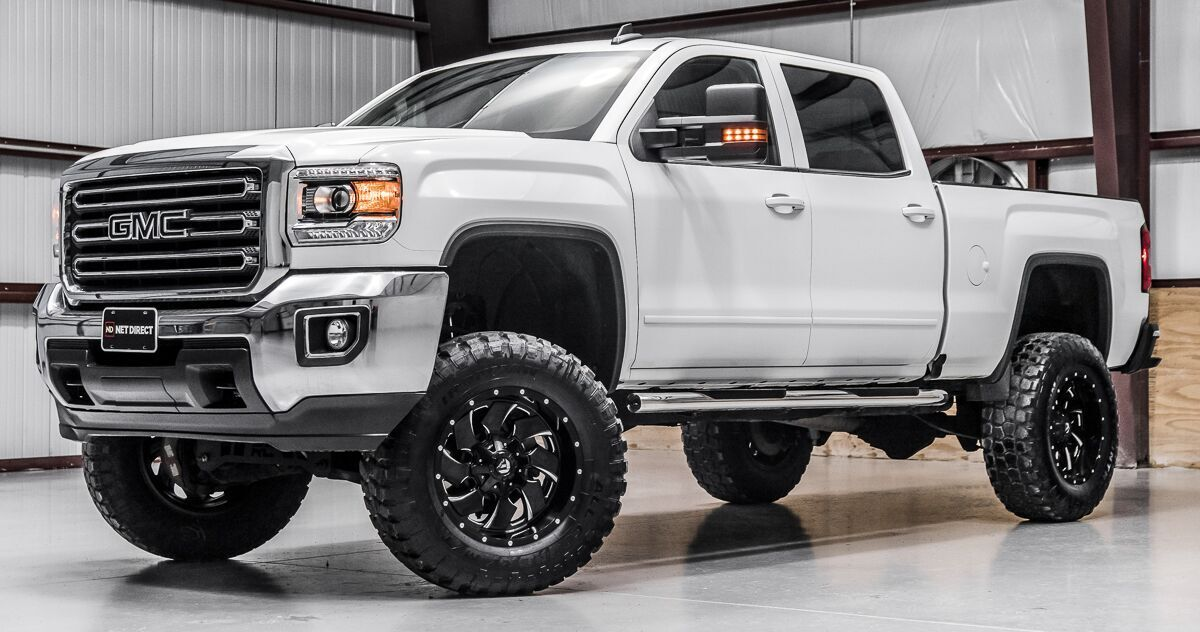 Stock 10884 Lifted 2018 Gmc Sierra 2500hd 4x4 Crew Cab Sle In 2020