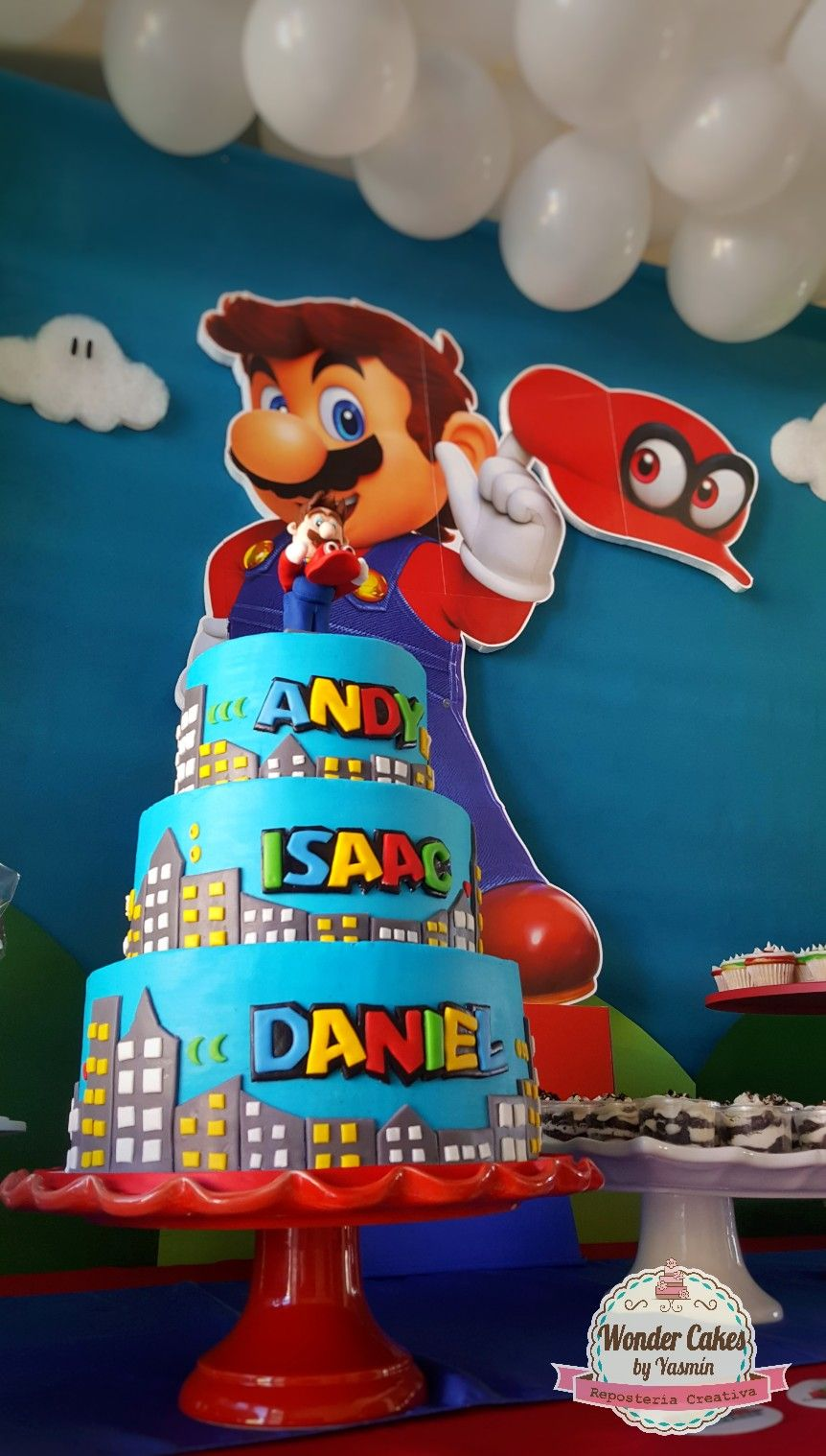 Mario Odyssey Party Metro Kingdom Cake Fondant Decorations Over