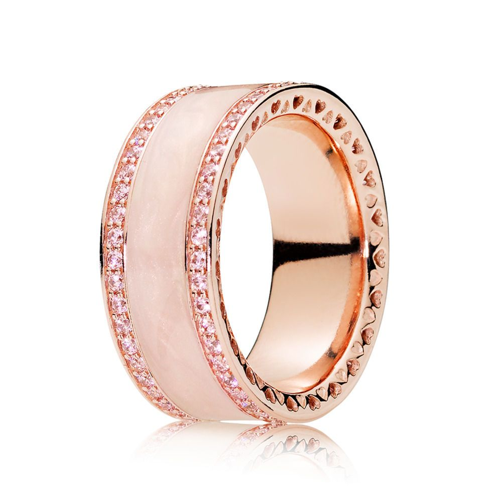 PANDORA Rose Pink Hearts of PANDORA Band Ring | Everything pink ...
