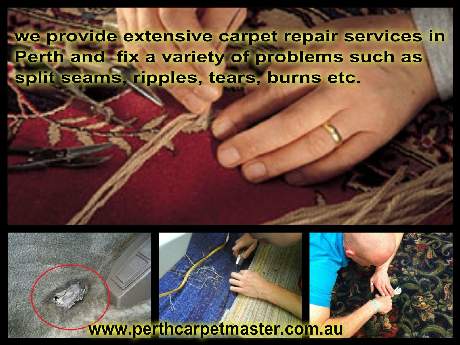 Perth Carpet Master Specialized In Both Residential And Commercial Carpet Repair Work They Can Repair Any Type Of Carpet Carpet Repair Types Of Carpet Repair