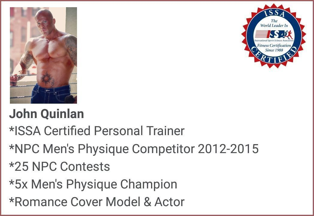 John Joseph Quinlan 2015 Official Issa Certified Personal Fitness