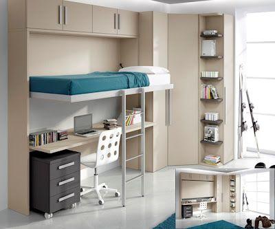Dormitorios juveniles modernos peque os espacios dormitorios juveniles modernos dormitorios - Dormitorios juveniles espacios pequenos ...
