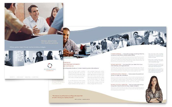 Marketing Consulting Group Brochure Template Design By
