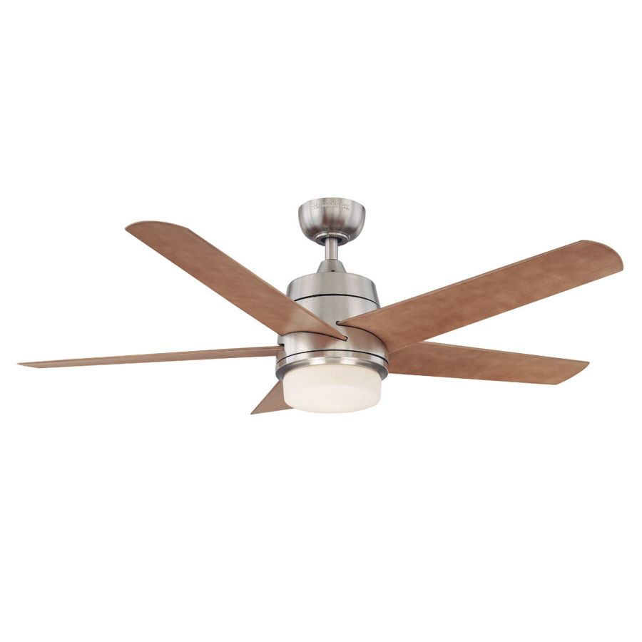 Harbor Breeze 52 In Teolo Brushed Nickel Ceiling Fan With Light Kit At