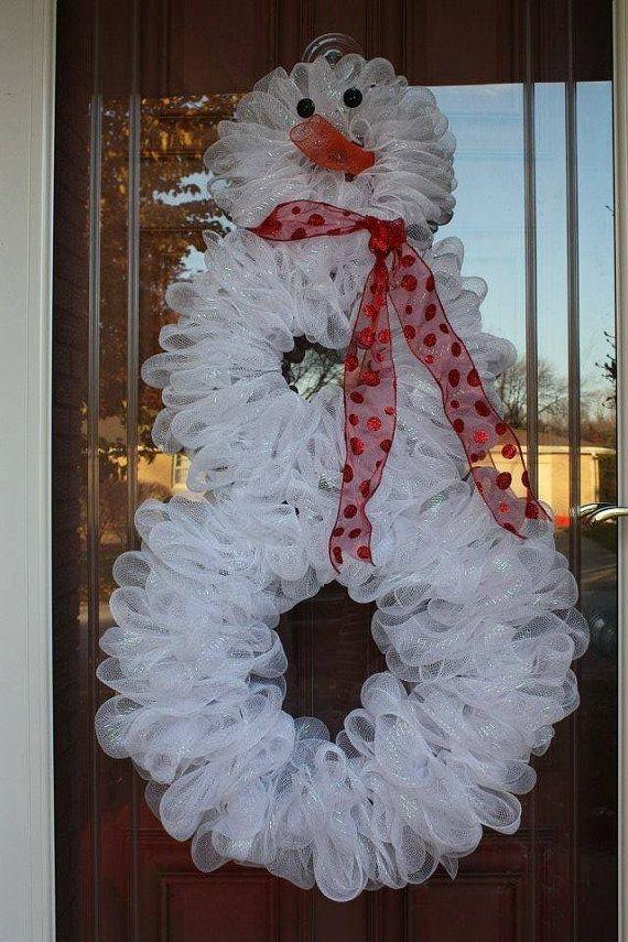 Snowman Deco Mesh Wreath Christmas Wreaths Deco Mesh Wreaths