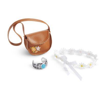 NIB American Girl Julie Floral Peasant Accessories w// Purse Bracelet Headband