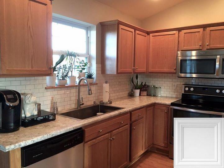 White Kitchen Cabinets With Light Quartz Countertops