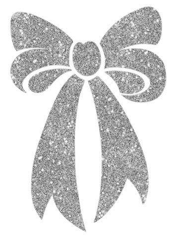 Silver Bow Glitter Tattoo Glitter Tattoo Metallic Tattoo Temporary Diy Tattoo