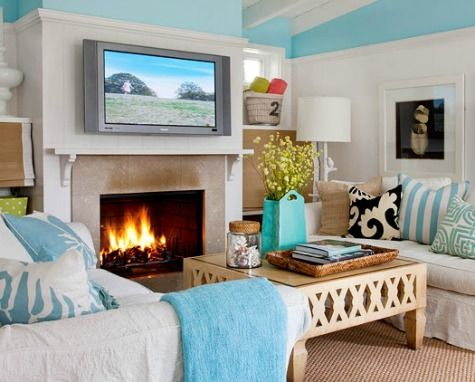 Coastal Living Room Color Ideas from Better Homes and Gardens My