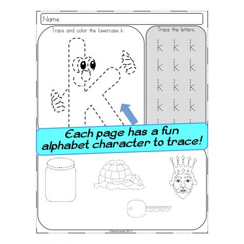 Alphabet Tracing Print and Go Worksheets - Lowercase Letters - These ...