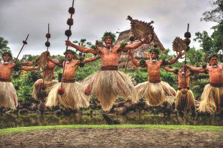 Fijian warriors perform a Fijian meke (dance) | fiji | Fiji holiday