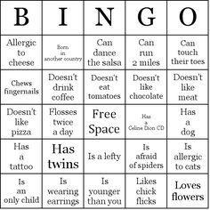Ice Breaker People Bingo Cards Human Bingo People Bingo Bingo Card Template