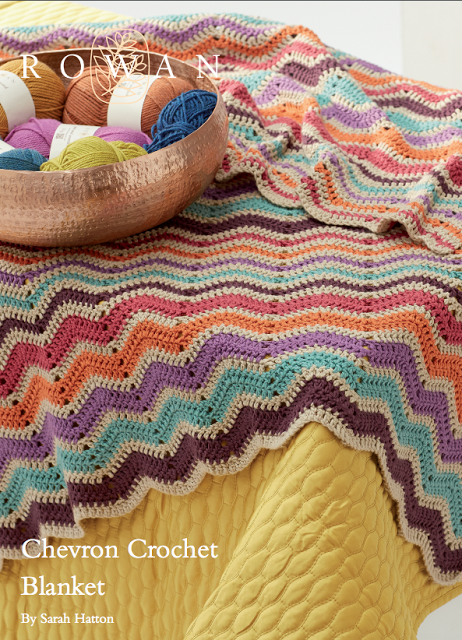 924d9db983 The Vintage Pattern Files Free 1970's Crochet Pattern - 1970's Style  Cheveron Afghan Blanket