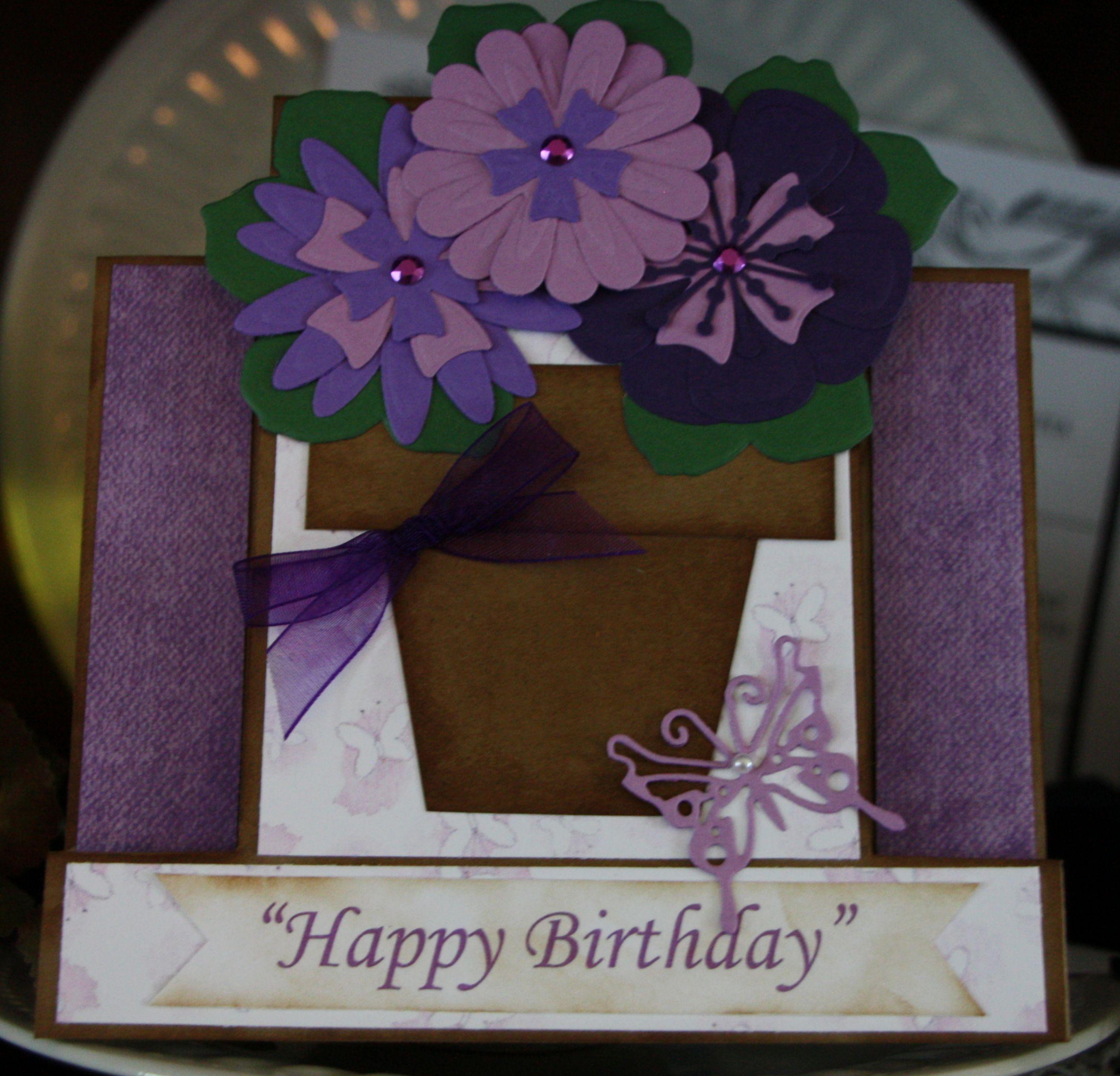 flower pot card blank inside  flower pots homemade