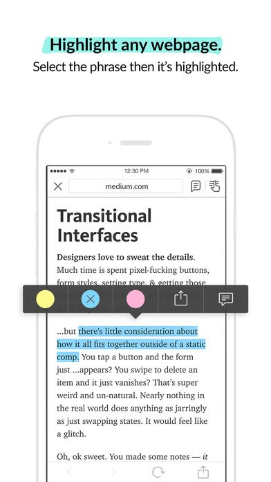 Liner - Mobile Web Highlighter & Annotator and Bookmarker for Safari