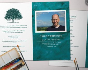 Customized Funeral Program Template A Booklet Por Foreveryoursnz