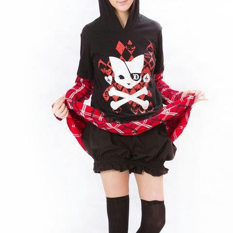 SUGAR Skull Kitty Cat Hoodie Banned living dead souls Goth Punk rock hooded top
