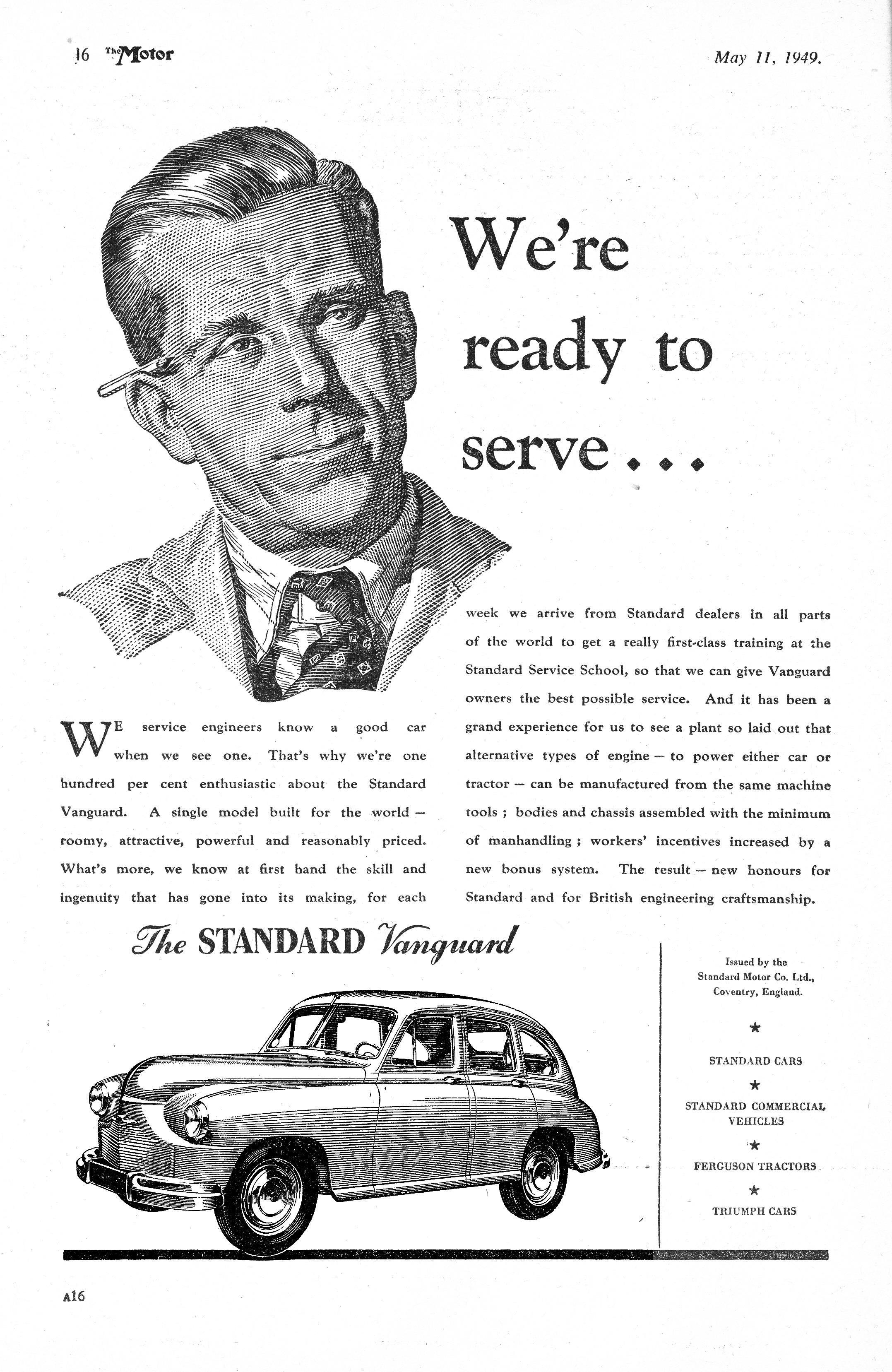 Phase I Standard Vanguard Motor Car Autocar Advert