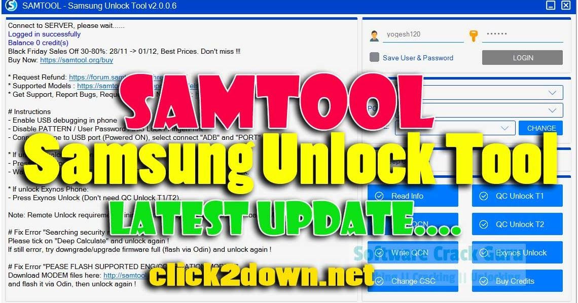 Download Samtool Samsung Unlock Tool V2 0 0 6 Latest Version