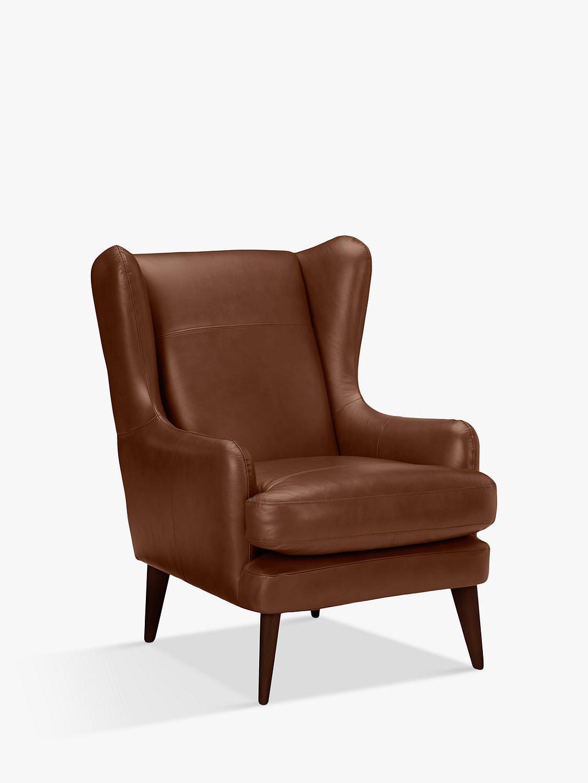 John Lewis Partners Bergen Leather Armchair Dark Leg Contempo