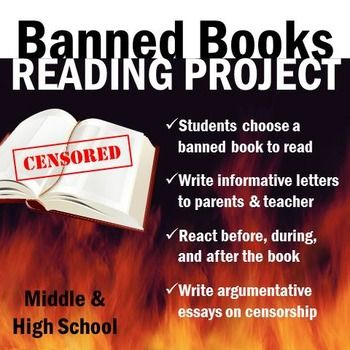 Superbe Banned Books: Individualized Reading U0026 Writing Project. Middle School ...