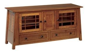 Amish Mccoy Mission Open Flat Screen Tv Stand Shaker Style Furniture Craftsman
