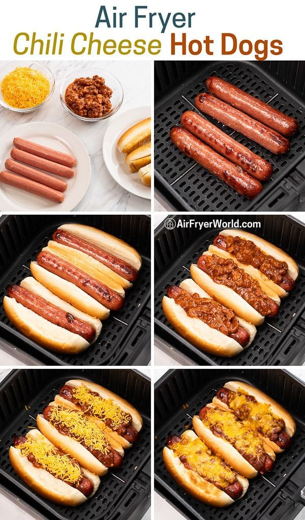 Air Fryer Chili Cheese Dogs Recipe in 2020 (With images