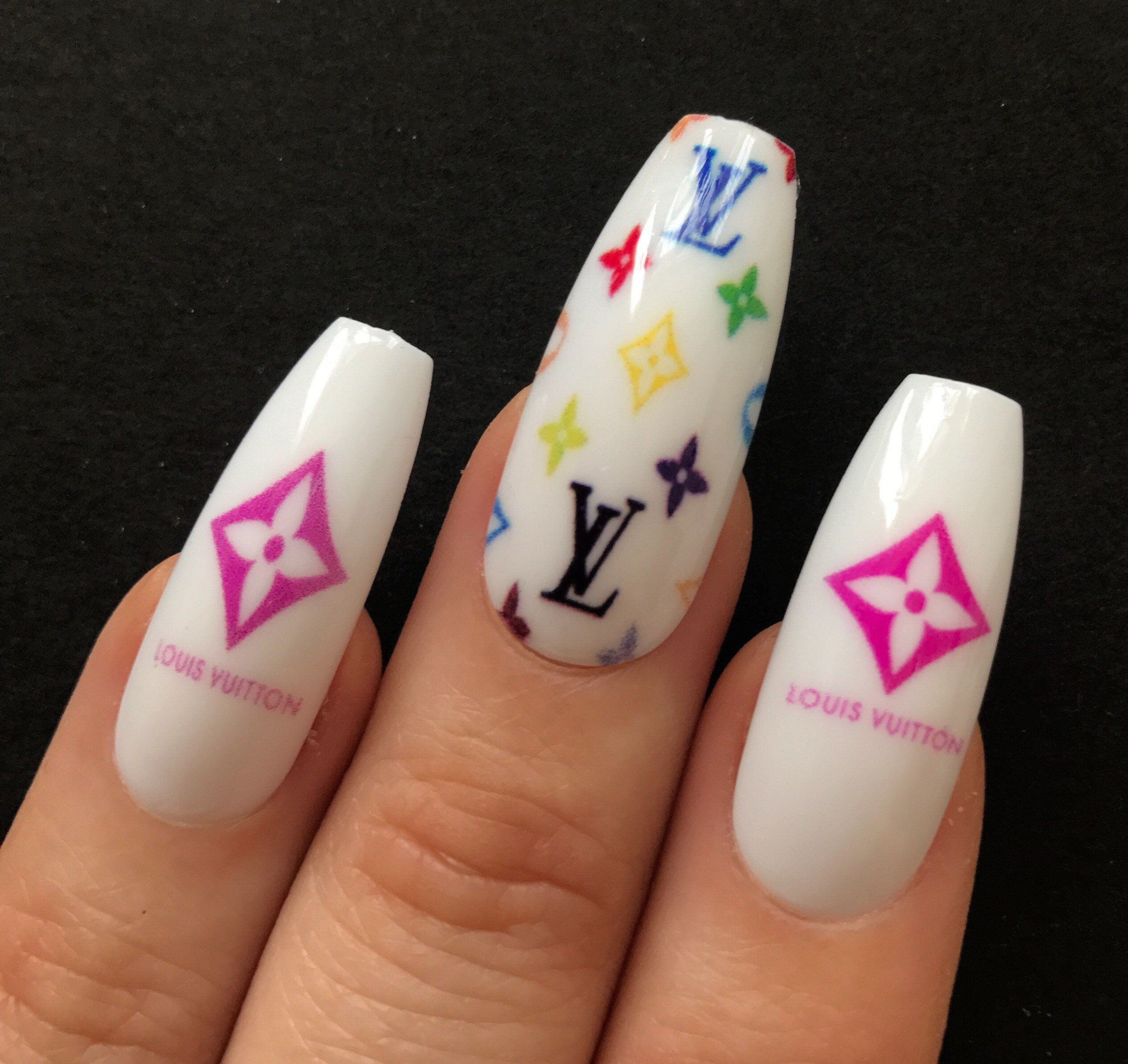 Louisvuitton Lv Nails Nails Nail Printer Ballerina Nails
