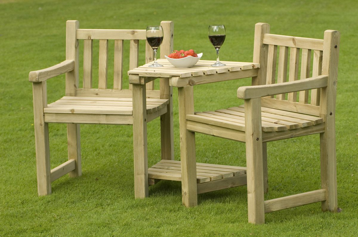 wooden outdoor furniture plans. Interesting Wooden Patio Furniture Plans From Knotty Pine Wood Boards And Built In Tabletop With Jamie Oliver Wine Glasses Above Garden Lawn Grass Outdoor