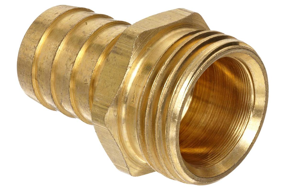 Anderson Metals Brass Garden Hose Fitting Connector 3 8 Barb X 3 4 Male Hose Metal Garden Hose Hose Hose Connector