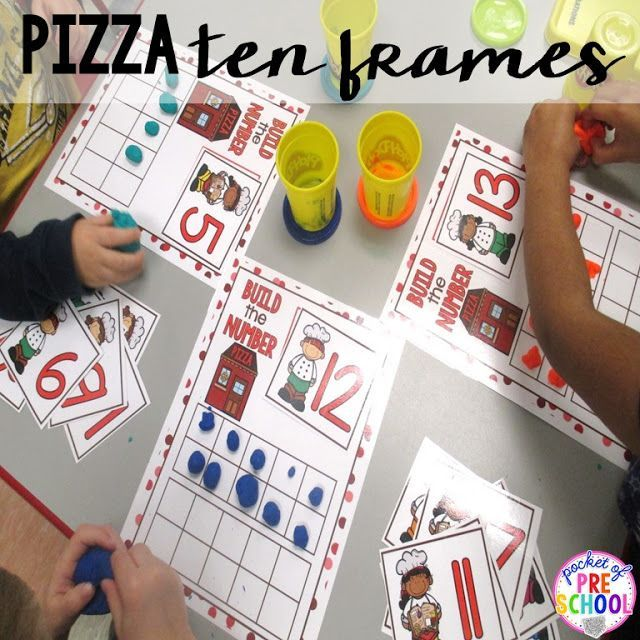math worksheet : ten frame boards with a pizza theme a fun pizza math game  : Pre Kindergarten Math Games