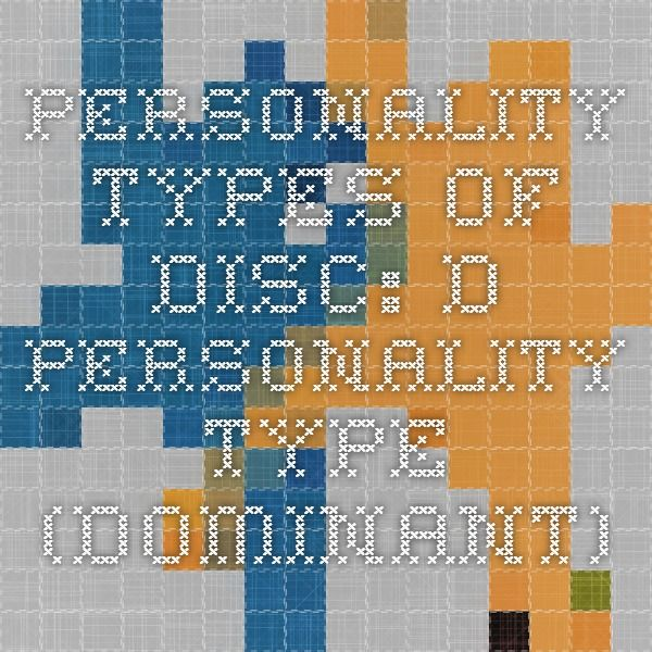 Personality Types of DISC  D Personality Type (Dominant ... 8aab3430c