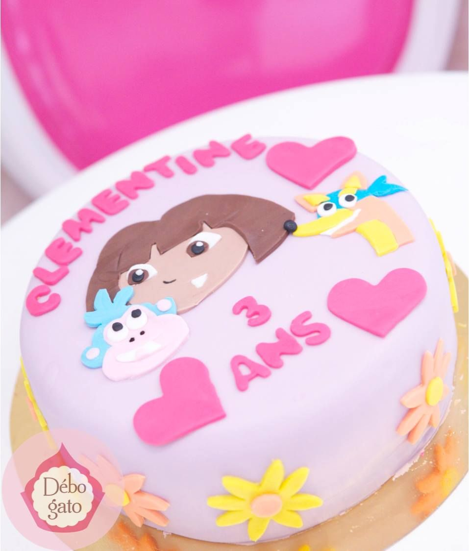 Cake Design Dora L Exploratrice : Gateau Dora l exploratrice, Dora, Dessin anime, Babouche ...