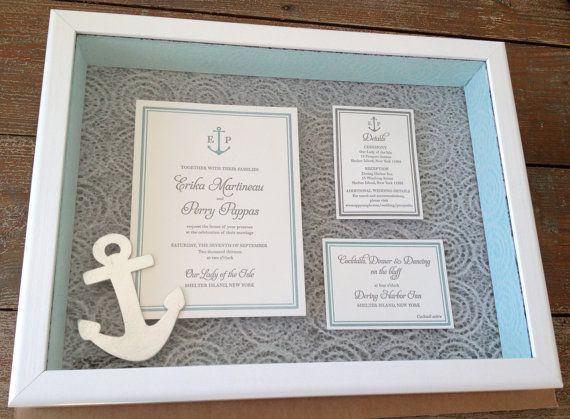 Custom Keepsake Wedding Invitation Shadow Box 12 X 16