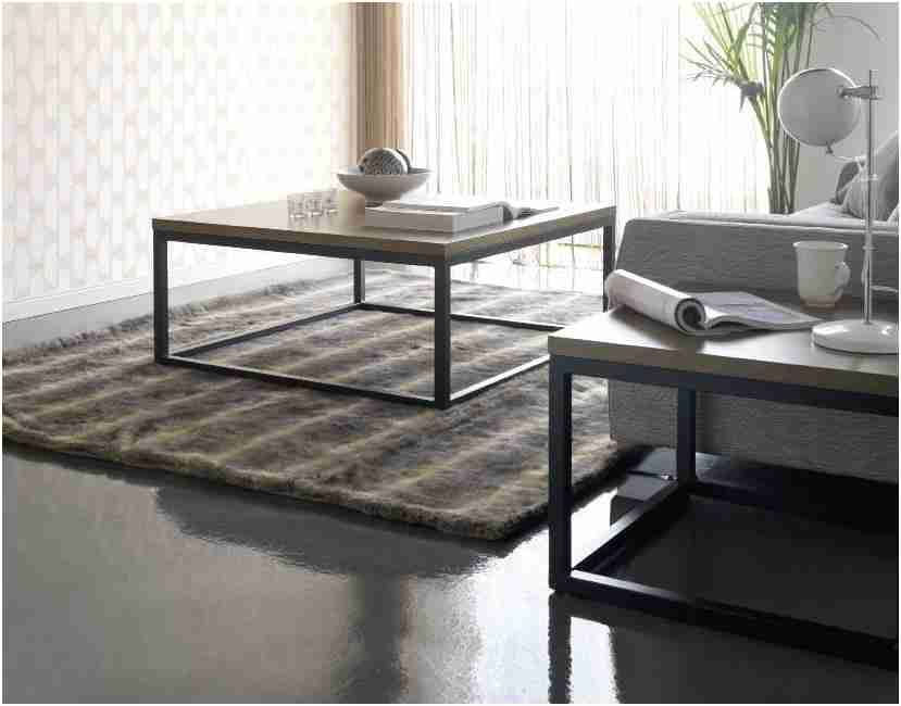 Table Basse Bois Et Fer Forge Luxe Table Basse Carree Bois Et Fer