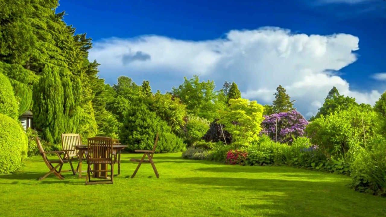Hd 1080p Nature With Family Garden Scenery Video Royalty Free Landscape Lawn And Landscape Landscape Green Screen Video Backgrounds