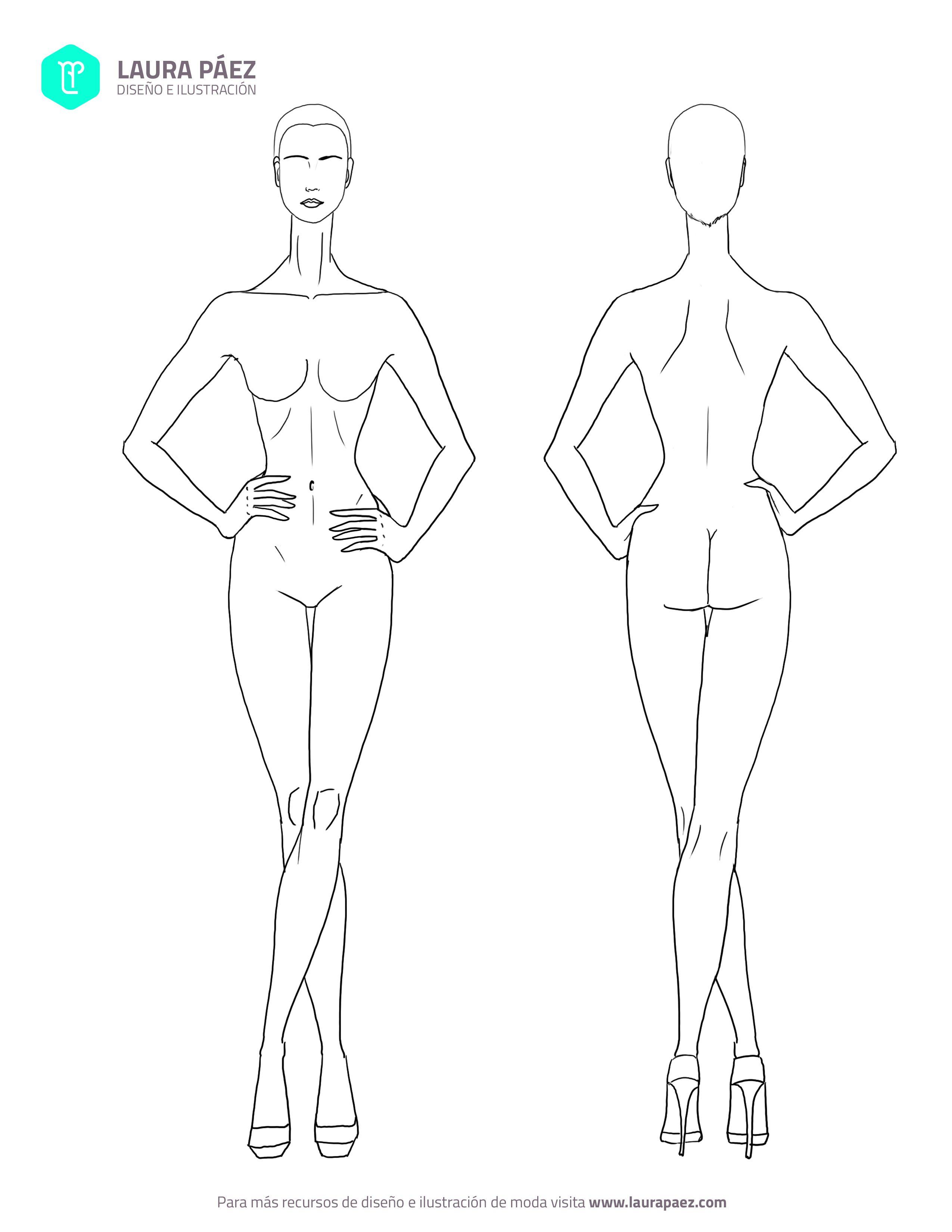 Has Clic Aquí Para Descargar Plantillas Fashion Sketches