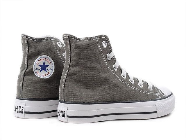 226e335ade6b  45 Converse All Star Hi Charcoal For some reason I like hi-topped sneakers  and shoes a lot.
