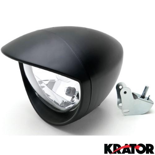 Kratorâ Motorcycle Custom Black Headlight Head Light For Honda Vt