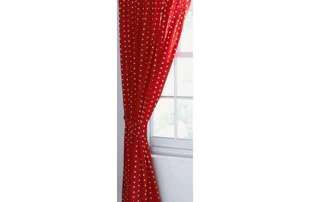 Red & white polka dot curtains | Polka dot curtains