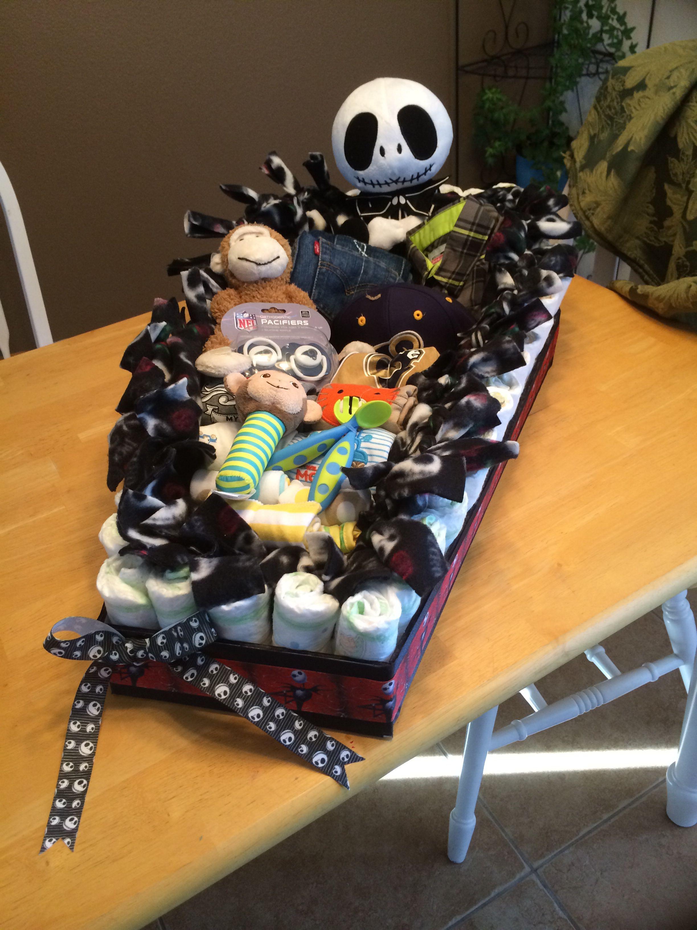 Coffin Diaper Cake