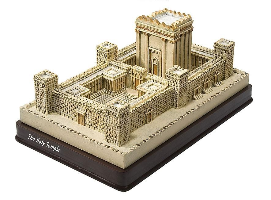 2nd temple model holy temple temple in jerusalem statue